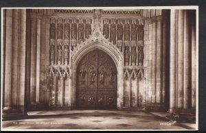 Yorkshire Postcard - The West Door of Beverley Minster    DC479