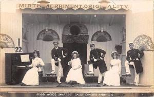 Jimmy Woods Smart Set Cadet Concert Party 1910 Real Photo Postcard