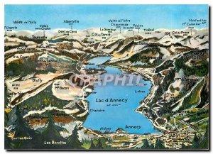 Modern Postcard Lake Annecy