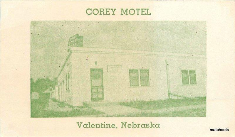 1940s corey motel roadside green tint valentine nebraska postcard 6449 - Motels In Valentine Nebraska