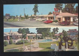 SANTEE SOUTH CAROLINA MANSION PARK MOTOR LODGE 1963 FORD GALAXIE POSTCARD