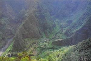 Ile de La Reunion Grand Bassin Aerial view Ocean Indien