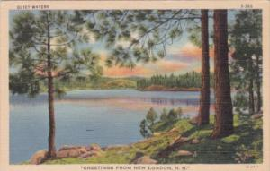New Hampshire Greetings From New London Quiet Waters Curteich