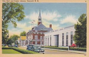 City Hall And Public Library Concord New Hampshire