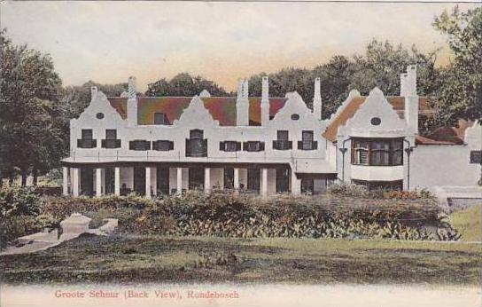 South Africa Groote Schuur Rondebosch Cecil Rhodes Residence