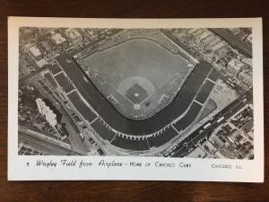 RPPC 1930s Wrigley Field from Airplane Home of the Chicago Cubs by Grogen D15