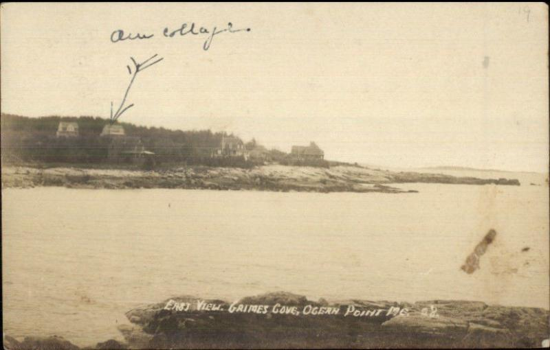 Ocean Point ME Grimes Cove c1920 Real Photo Postcard