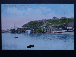 Isle of Man DOUGLAS HEAD & PORT SKILLION - Old Postcard by Valentine