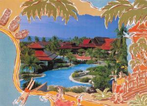 Postcard Pelangi Beach Resort, Panoramic View, Malaysia, Large Format Card D34