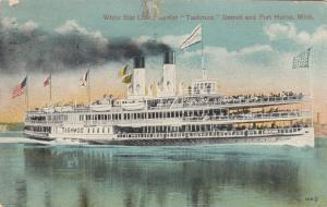 PORT HURON , Michigan , PU-1916 ; white Star Line Steamer Tashmoo