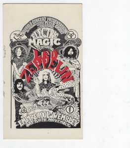 Buffalo Concert Present w/Electric Magic by Led Zeppelin Advertising PC Unused