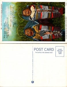 A Sad Little Pair of Indian Papooses (10126)