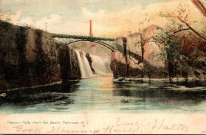 New Jersey Paterson Passaic Falls From The Basin 1906