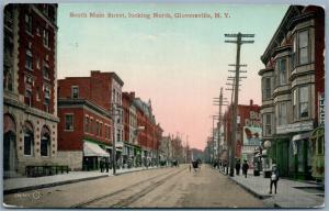 GLOVERSVILLE NY SOUTH MAIN STREET 1913 ANTIQUE POSTCARD