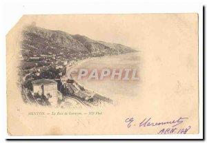 Old Postcard Menton Garavan Bay