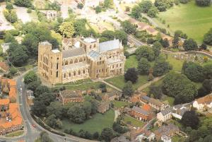 Ripon Cathedral North Yorkshire Aerial view