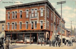 E50/ Ironton Ohio Postcard c1910 Hayward Block Knox Department Store