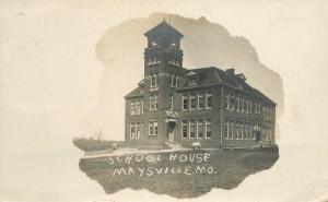 1908 Dekalb Frame like School House Maysville Missouri RPPC real photo 6281