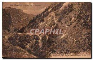 Old Postcard Dauphine Gorge Bourne Bridge Ghoul Black
