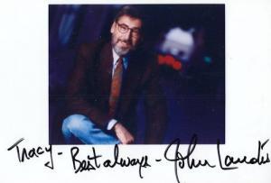 John Landis Animal House Moonwalker Large Hand Signed Photo