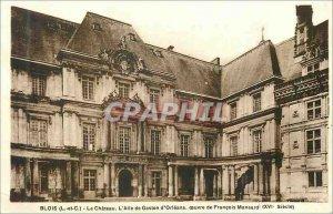 Old Postcard Blois Chateau L and C L Wing Gaston d Orleans