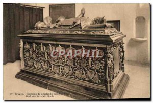 Bruges Old Postcard Tomb of Charles the Temeraire