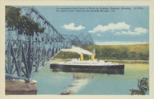 An ocean-liner steamer clearing the Quebec Bridge, 10-20s