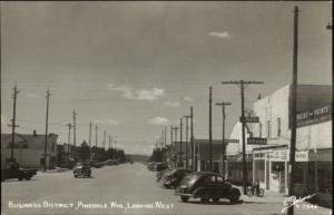 Pinedale WY Business District Cars SANBORN Real Photo Postcard Drugstore