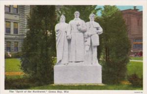 Wisconsin Green Bay Spirit Of The Northwest Monument Curteich
