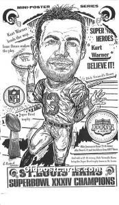 Old Vintage Football Postcard Post Card St Louis Rams Super Bowl XXXIV Champi...