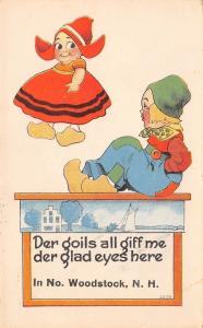 Der Goils All Give Me Der Glad Eyes Here in North Woodstock New Hampshire~1914