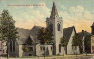 Millville NJ Church c1910 Postcard