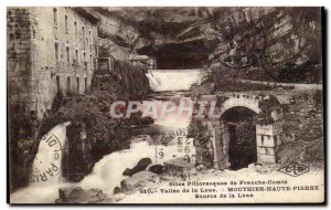 Mouthier-Haute-Pierre - Source of the Loue - Old Postcard