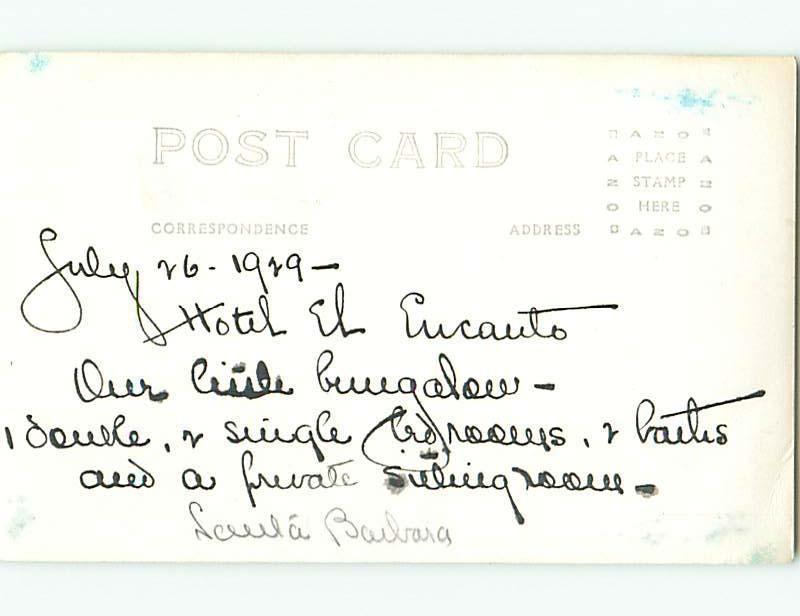Pre-1949 rppc EL EUCAUTO HOTEL In Balaia PORTUGAL t2479