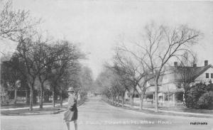 c1910 Shady Resident Street Fort Riley Kansas Soldier Military postcard 8348