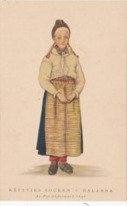 Sweden Rattviks Socken Dalarna Local In Traditional Costume