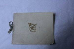 Vintage 1898 High School Commencement Program Holly, MI Embossed Logo On Cover