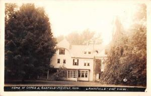 Mentor Ohio Garfield Home Lawnfield Real Photo Antique Postcard J59363