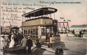 Tramway Terminus Beach Durban South Africa A. Rittenberg c1908 Postcard E32