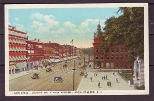 P1479  old unused postcard main st. old cars etc concord mass