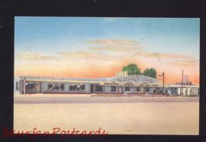 MORIARTY NEW MEXICO ROUTE 66 RESTAURANT VINTAGE LINEN ADVERTISING POSTCARD