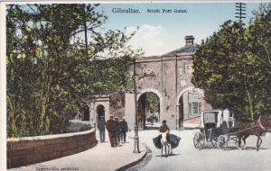 Horse Carriage, South Port Gates, GIBRALTAR, 1900-1910s