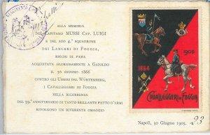 49832 CARTOLINA d'Epoca - FOGGIA:  REGGIMENTALI  - Cavalleggieri di Foggia  1905