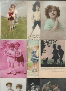 Kids - Theme Postcards with RPPC Lot of 20 Postcards 01.08