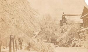 East Orange New Jersey Snow Scene Real Photo Antique Postcard K80962