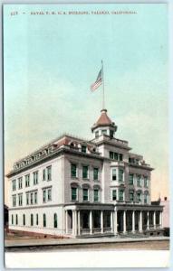 VALLEJO, California  CA ~ NAVAL Y.M.C.A. Building c1910s Solano County Postcard