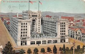 California, San Diego, U.S. Grant Hotel, tram 1909