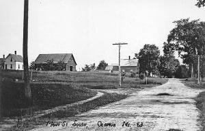 Olamon ME Dirt Main Street South Real Photo Postcard