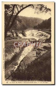Old Postcard The Loss of the Rhone in Bellegarde The Dams