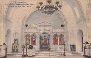 Florida Tarpon Springs St Nicholas Greek Orthodox Church Interior 1955 Curteich